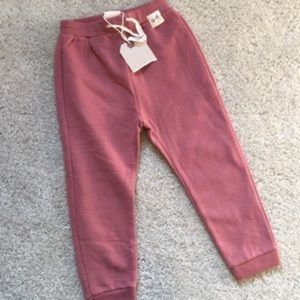 NWT Zara pink sweatpants 3/4 yrs